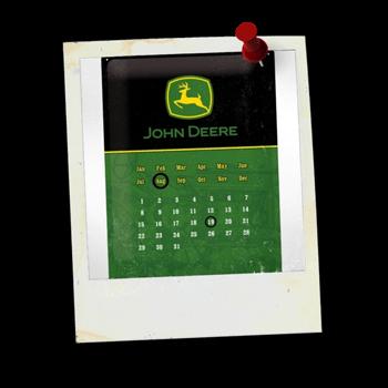 Kalender-Blechschilder