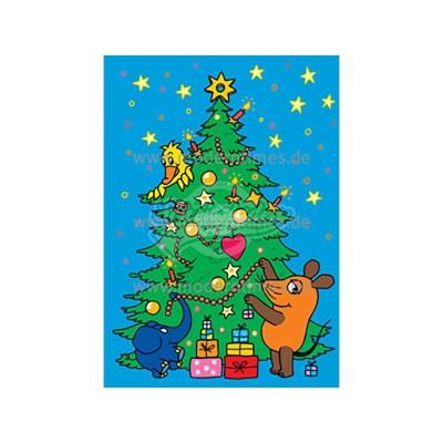 """Postkarte Weihnachten ARTCONCEPT © SCHMITT-MENZEL """"STREICH TANNENBAUM SCHMÜCKEN"""" - von Modern Times - scheissladen.com"""