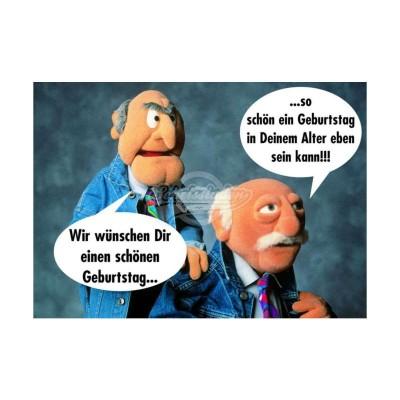 """Postkarte """"Einen schönen Geburtstag """" - Muppet Show"""
