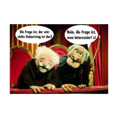 """Postkarte """"Der wievielte Geburtstag ist das"""" - Muppet Show"""