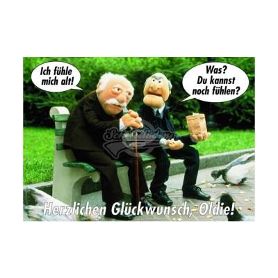 """Postkarte """"Ich fühle mich alt """" - Muppet Show"""