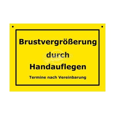 """Türschild Baustellenschild """"Brustvergrößerung"""" - Verbotene Schilder"""