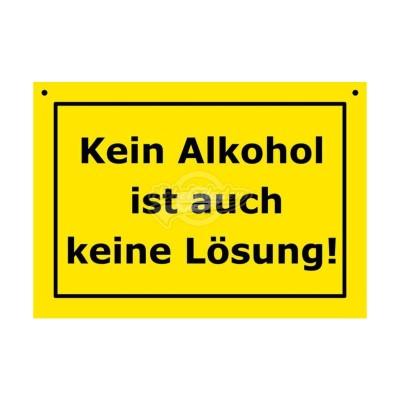 """Türschild Baustellenschild """"Kein Alkohol"""" - Verbotene Schilder"""