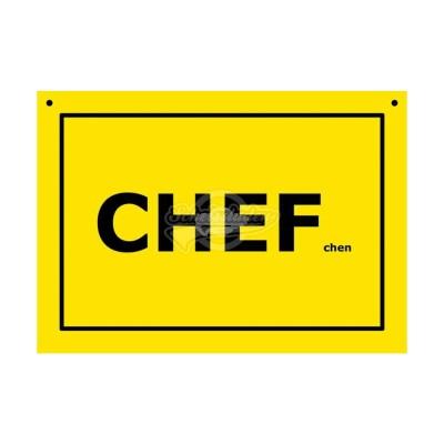 """Türschild Baustellenschild """"Chef"""" - Verbotene Schilder"""