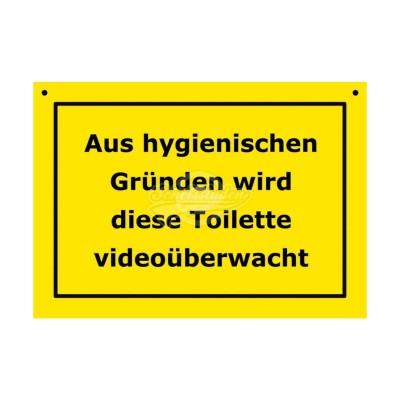 """Türschild Baustellenschild """"Videoüberwachte Toilette"""" - Verbotene Schilder"""