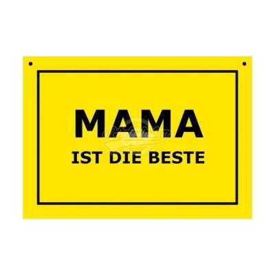 """Türschild Baustellenschild """"Mama ist die Beste"""" - Verbotene Schilder"""