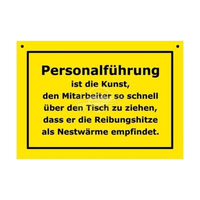 """Türschild Baustellenschild """"Personalführung"""" - Verbotene Schilder"""