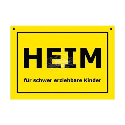 """Türschild Baustellenschild """"Heim"""" - Verbotene Schilder"""