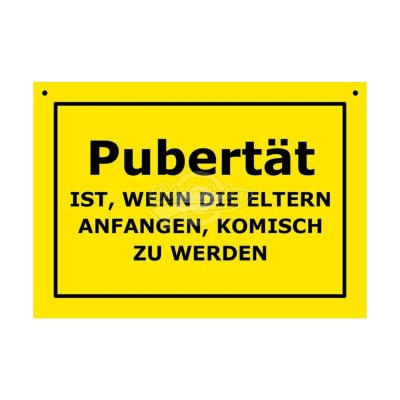 """Türschild Baustellenschild """"Pubertät"""" - Verbotene Schilder"""