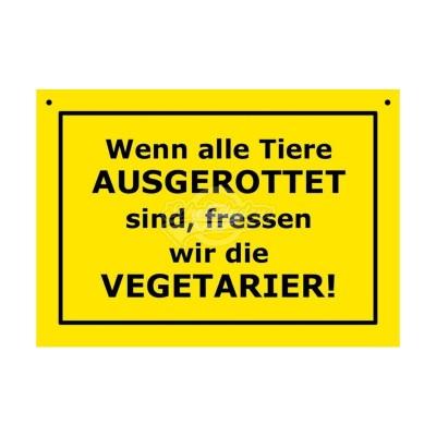 """Türschild Baustellenschild """"Ausgerottet"""" - Verbotene Schilder"""