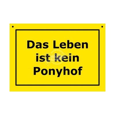 """Türschild Baustellenschild """"Ponyhof""""- Verbotene Schilder"""