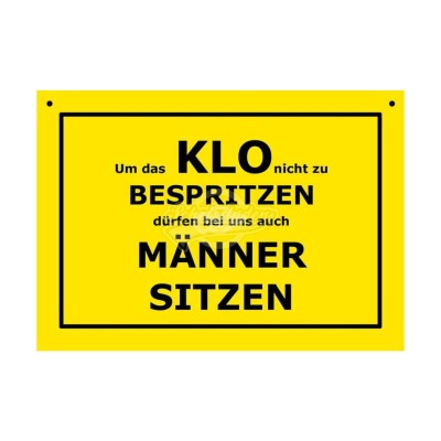 """Türschild Toilettenschild """"Klo"""" - Verbotene Schilder"""
