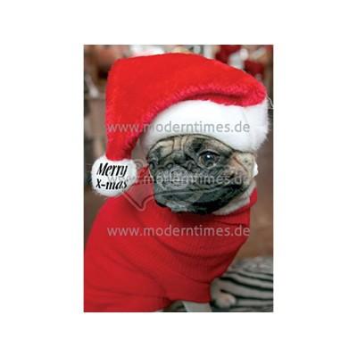 Postkarte Weihnachten ARTCONCEPT © PICTURE ALLIANCE MERRY CHRISTMAS DOGGY - von Modern Times - scheissladen.com