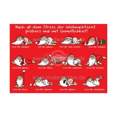 Postkarte Weihnachten ARTCONCEPT © STOCKEBRAND - von Modern Times - scheissladen.com