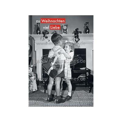 """Postkarte Weihnachten ALLERHAND © Lambert/getty images """"ZU WEIHNACHTEN VIEL LIEBE"""" - von Modern Times - scheissladen.com"""