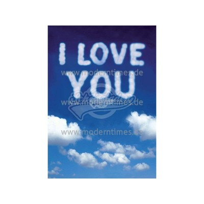 "Wackelkarte - 3D ""Wolken I Love You"""