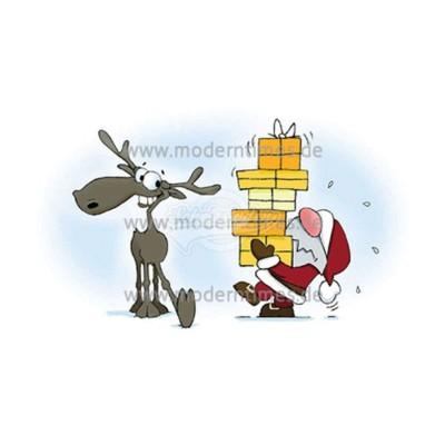 Postkarte Weihnachten ARTIMEDES © WWW.YEPEECARDS.CH SANTA & ERIC - GESCHENKE - von Modern Times - scheissladen.com