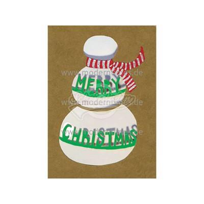 """Postkarte Weihnachten BIZARR © PAHL, Ashley """"MERRY CHRISTMAS"""" - von Modern Times - scheissladen.com"""