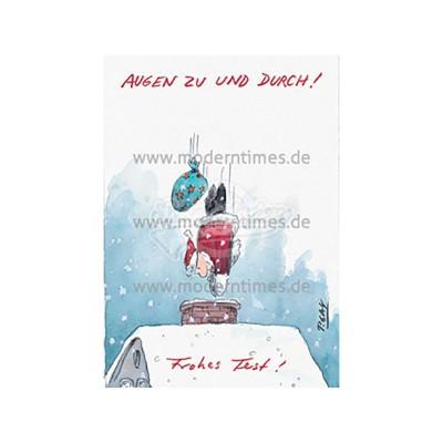 Postkarte Weihnachten CARTOON CONCEPT © GAYMANN - von Modern Times - scheissladen.com