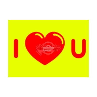 "Postkarte ""I heart"" U"