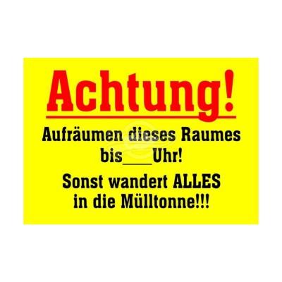 """Postkarte """"Achtung Aufräumen"""""""