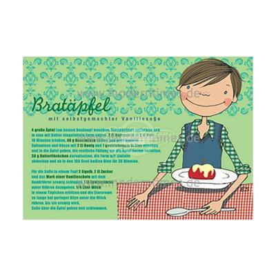 Postkarte Weihnachten ELKE SCHILLAI © KARTENKÜCHE BRATÄPFEL - von Modern Times - scheissladen.com