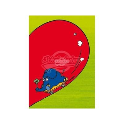 "Postkarte ""Elefant im Herz"""
