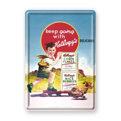 """Blechpostkarte """"Keep Going"""" Nostalgic Art"""