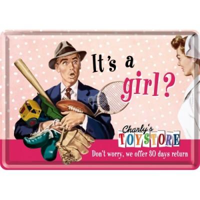 """Blechpostkarte """"Its a girl"""" Nostalgic Art"""