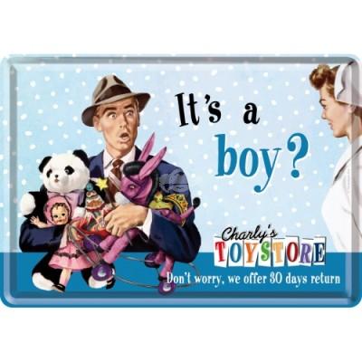 "Blechpostkarte ""Its a boy"" Nostalgic Art"