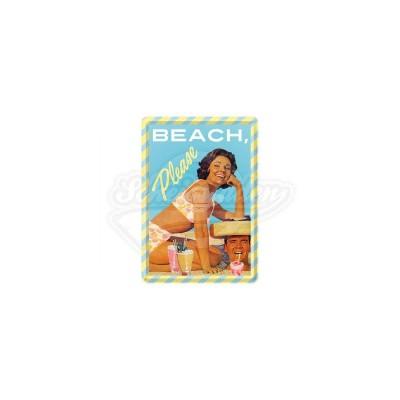 "Blechpostkarte ""Beach, Please"" Nostalgic Art"