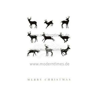 Postkarte Weihnachten KARTOENFABRIEK © ISTOCKPHOTO MERRY CHRISTMAS HIRSCH - von Modern Times - scheissladen.com