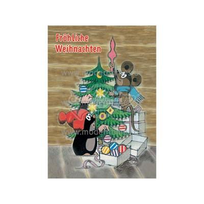 """Postkarte Weihnachten KARTENKOMBINAT © MILER, Zdenek """"FRÖHLICHE WEIHNACHTEN"""" - von Modern Times - scheissladen.com"""