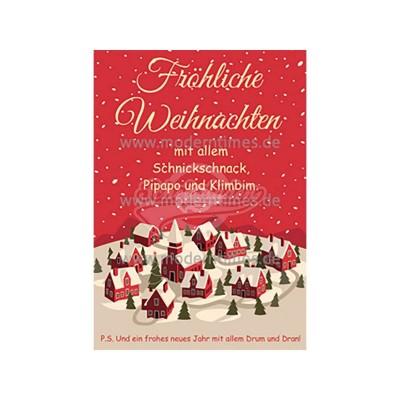 """Postkarte Weihnachten KÖPENICKER CG © BORHORST """"FRÖHLICHE WEIHNACHTEN MIT ALLEM"""" - von Modern Times - scheissladen.com"""