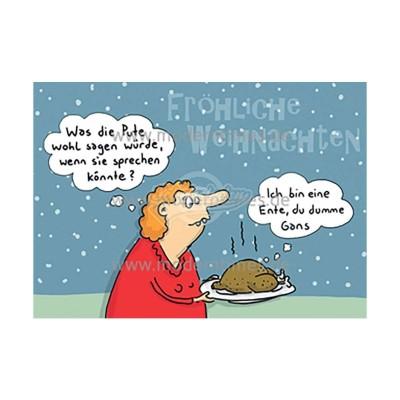 Postkarte Weihnachten KÖPENICKER CG © LARS - von Modern Times - scheissladen.com