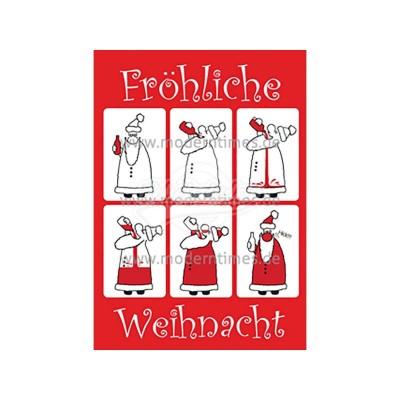 Postkarte Weihnachten KARTEN-WERKSTATT FRÖHLICHE WEIHNACHT HICK - von Modern Times - scheissladen.com