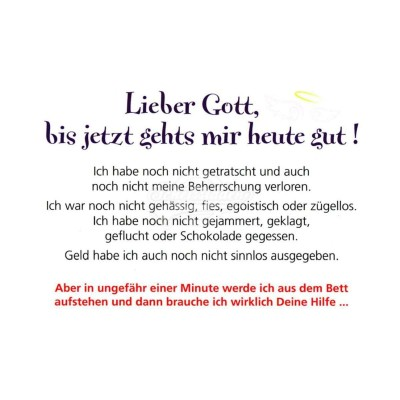 """Postkarte """"Lieber Gott bis jetzt"""""""