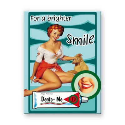 "Magnet ""For a Brighter Smile - Pin Up"" Nostalgic Art"