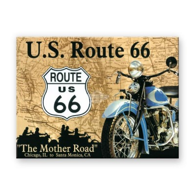 "Magnet ""Route 66 Map - US Highwayse"" Nostalgic Art"