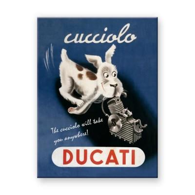 """Magnet """"Cucciolo - Ducati"""" Nostalgic Art"""