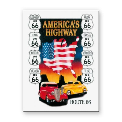 "Magnet ""Route 66 Highway - US Highways"" Nostalgic Art"