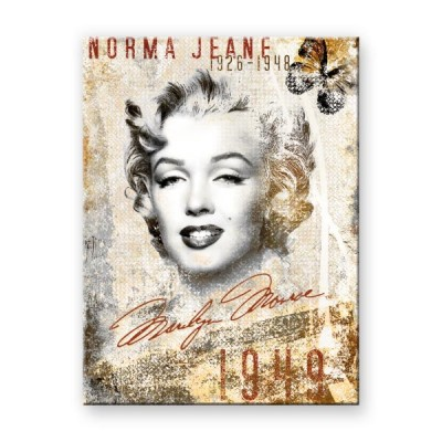 "Magnet ""Marilyn Monroe Collage - Celebrities"" Nostalgic Art"