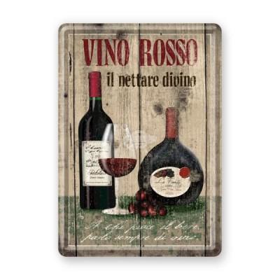 """Blechpostkarte """"Vino Rosso"""" Nostalgic Art"""