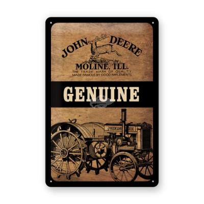 """Blechschild """"John Deere - Genuine"""" Nostalgic Art"""
