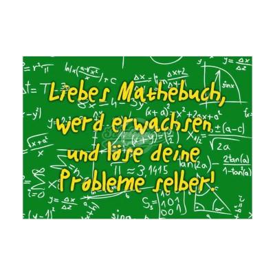 """Postkarte """"Liebes Mathebuch"""""""