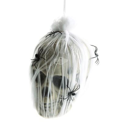 "Halloween ""Totenkopf im Spinnennetz"""
