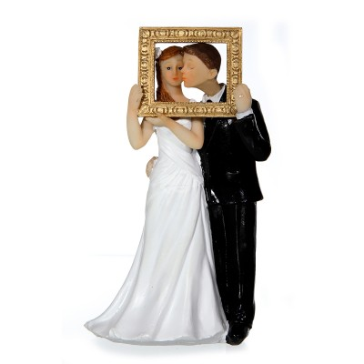 "Dekofigur ""Brautpaar im Rahmen"""