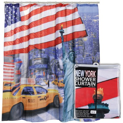 "Duschvorhang ""New York"" Stars & Stripes"
