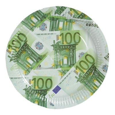 "Pappteller ""100 Euro"""