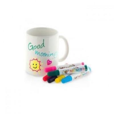 Tasse zum Bemalen - inklusive 5 Farben